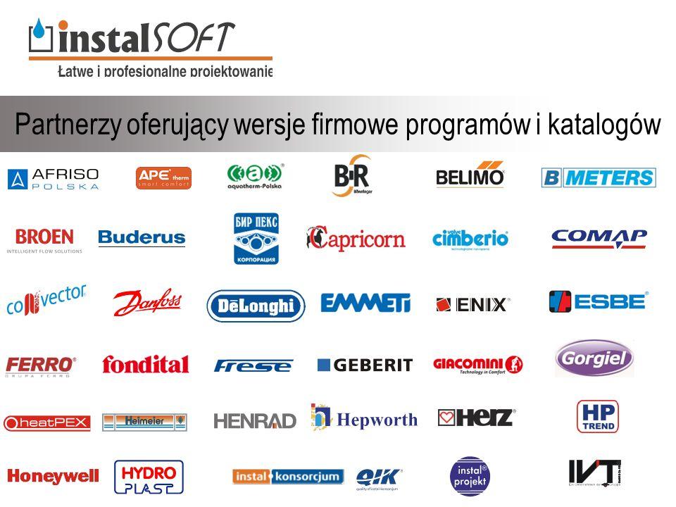 Partnerzy oferujący wersje firmowe programów i katalogów