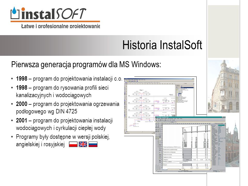 Historia InstalSoft Pierwsza generacja programów dla MS Windows: