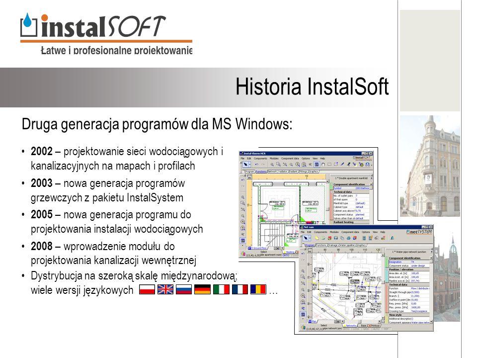 Historia InstalSoft Druga generacja programów dla MS Windows: