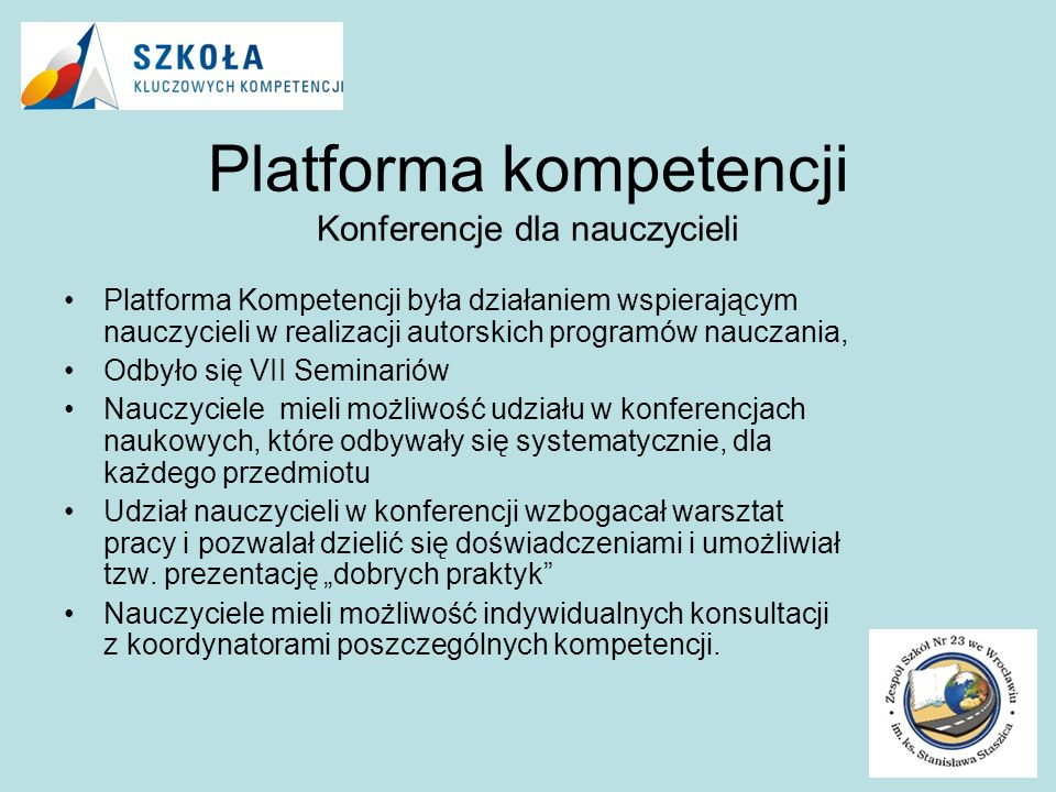 Platforma kompetencji Konferencje dla nauczycieli