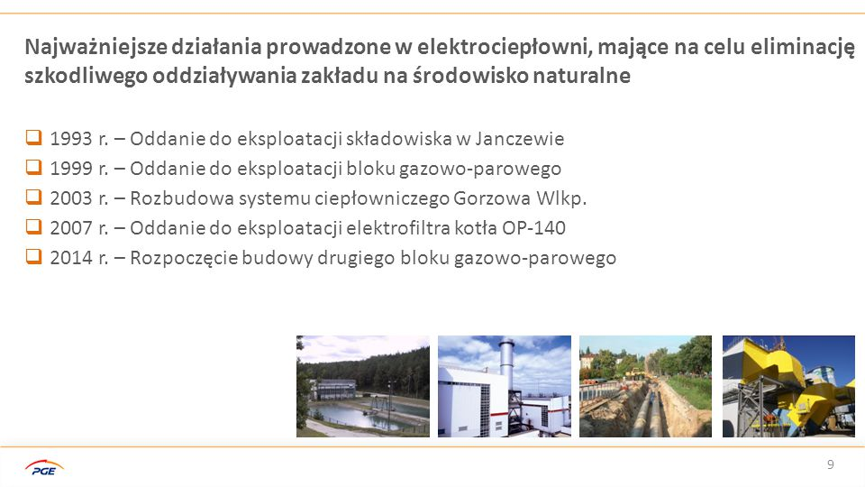 Najważniejsze działania prowadzone w elektrociepłowni, mające na celu eliminację szkodliwego oddziaływania zakładu na środowisko naturalne