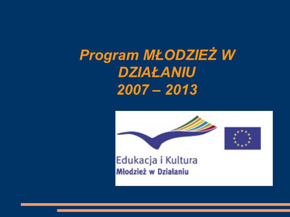 Program MŁODZIEŻ W DZIAŁANIU 2007 – 2013