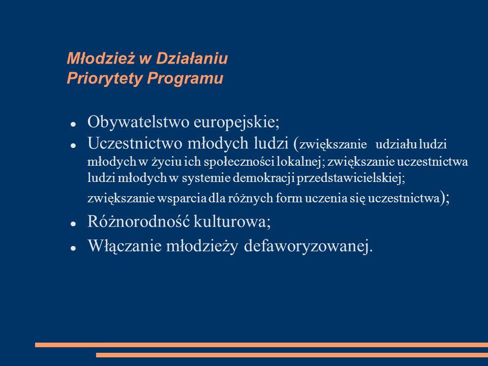 Młodzież w Działaniu Priorytety Programu
