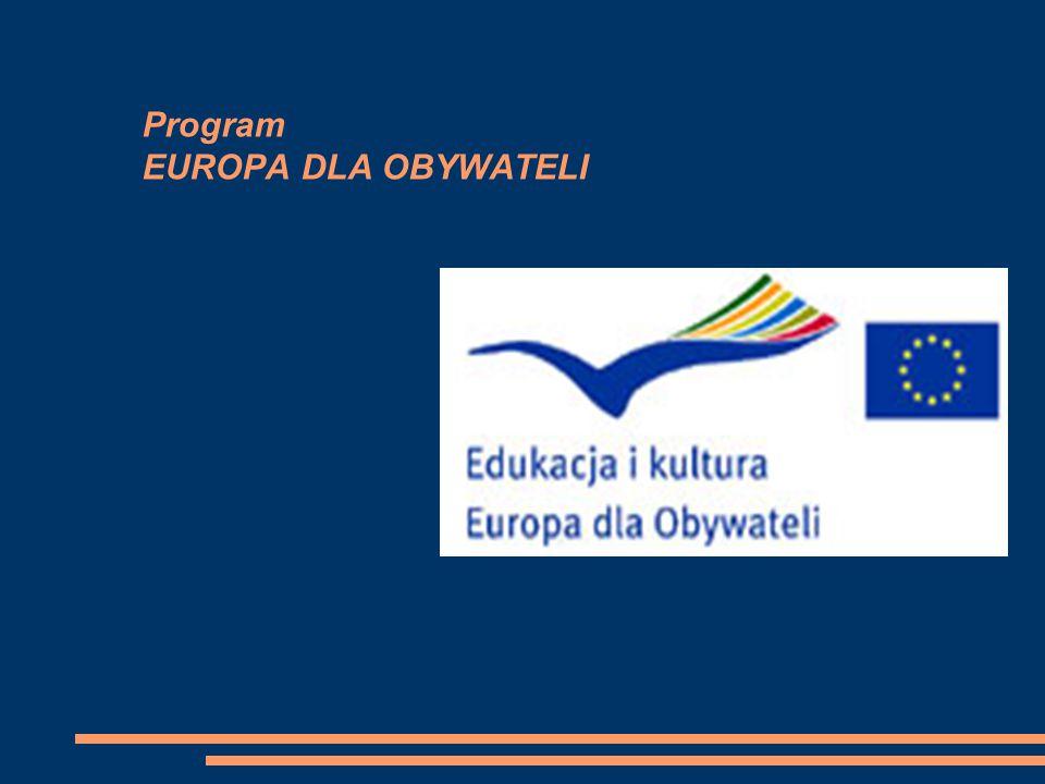 Program EUROPA DLA OBYWATELI