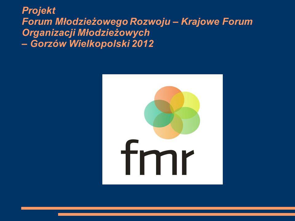 Projekt Forum Młodzieżowego Rozwoju – Krajowe Forum Organizacji Młodzieżowych – Gorzów Wielkopolski 2012