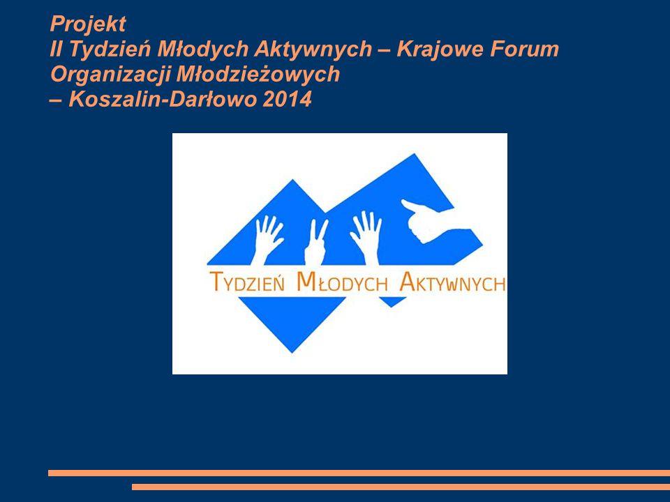 Projekt II Tydzień Młodych Aktywnych – Krajowe Forum Organizacji Młodzieżowych – Koszalin-Darłowo 2014