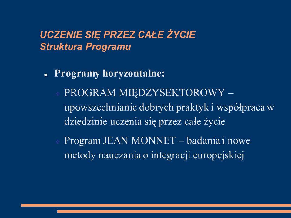 UCZENIE SIĘ PRZEZ CAŁE ŻYCIE Struktura Programu