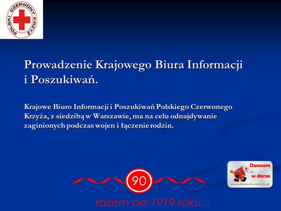 Prowadzenie Krajowego Biura Informacji i Poszukiwań