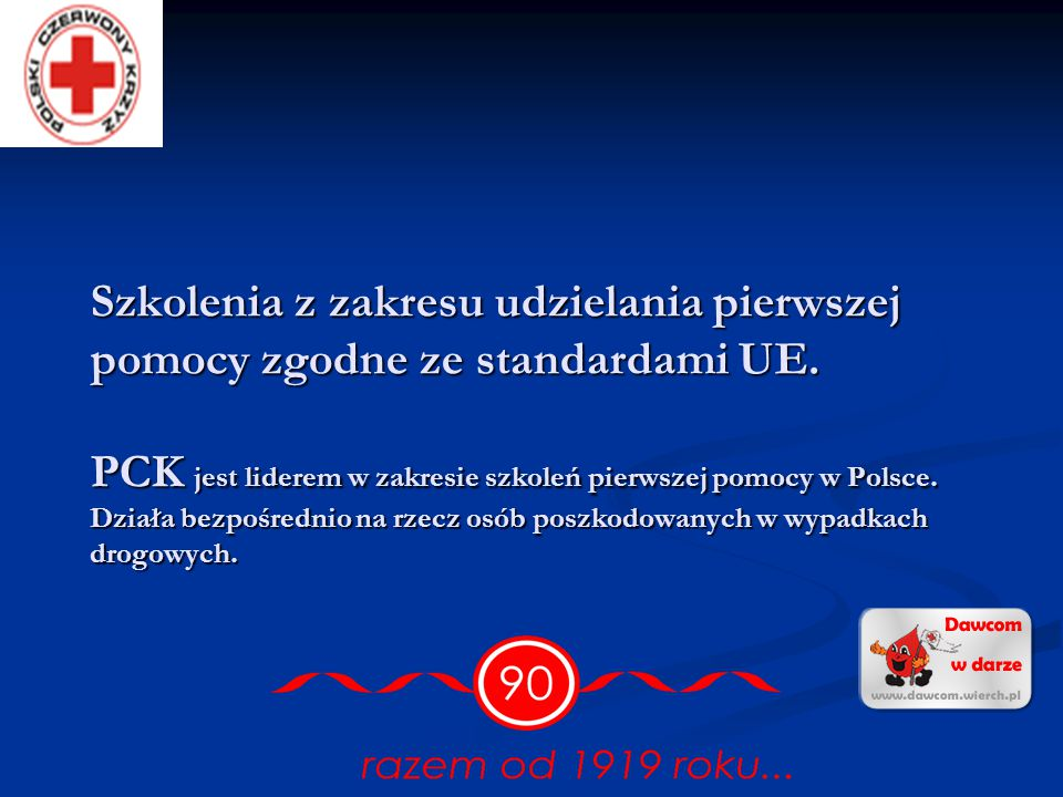 Szkolenia z zakresu udzielania pierwszej pomocy zgodne ze standardami UE.