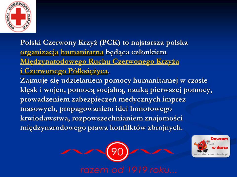 Polski Czerwony Krzyż (PCK) to najstarsza polska organizacja humanitarna będąca członkiem Międzynarodowego Ruchu Czerwonego Krzyża i Czerwonego Półksiężyca.