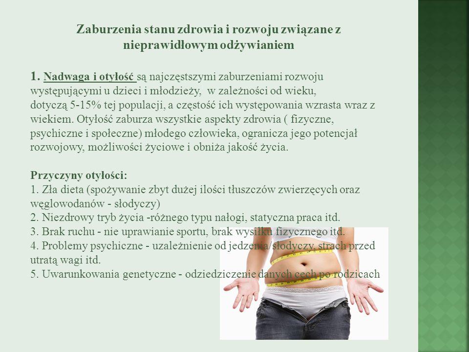 Zaburzenia stanu zdrowia i rozwoju związane z nieprawidłowym odżywianiem