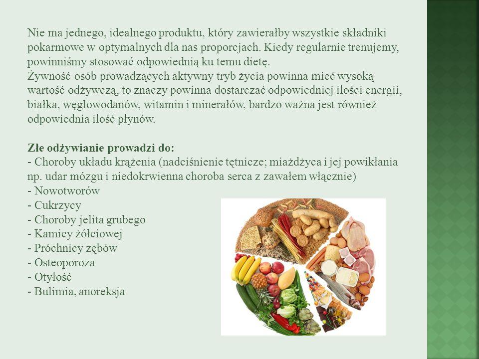 Nie ma jednego, idealnego produktu, który zawierałby wszystkie składniki pokarmowe w optymalnych dla nas proporcjach.