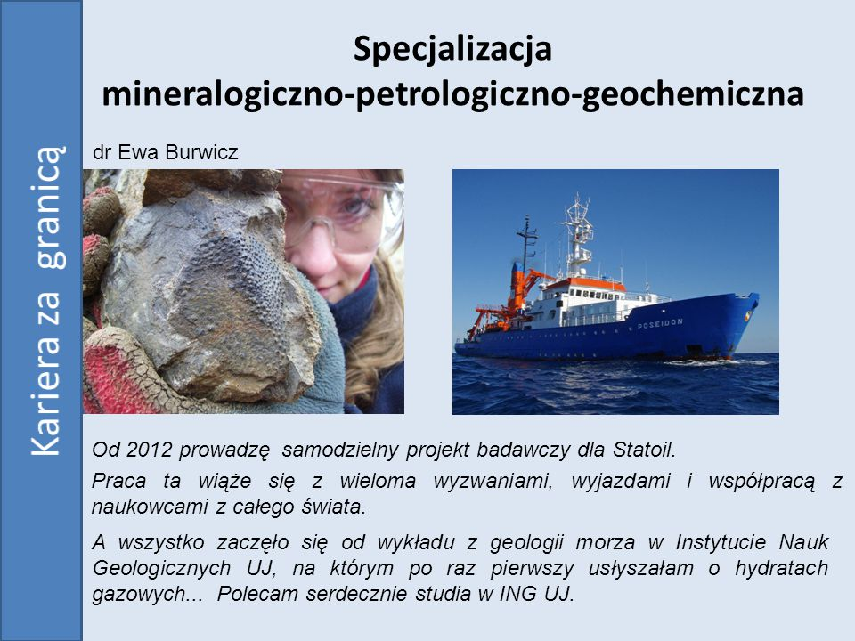Specjalizacja mineralogiczno-petrologiczno-geochemiczna