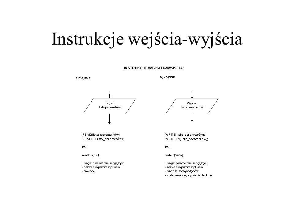 Instrukcje wejścia-wyjścia