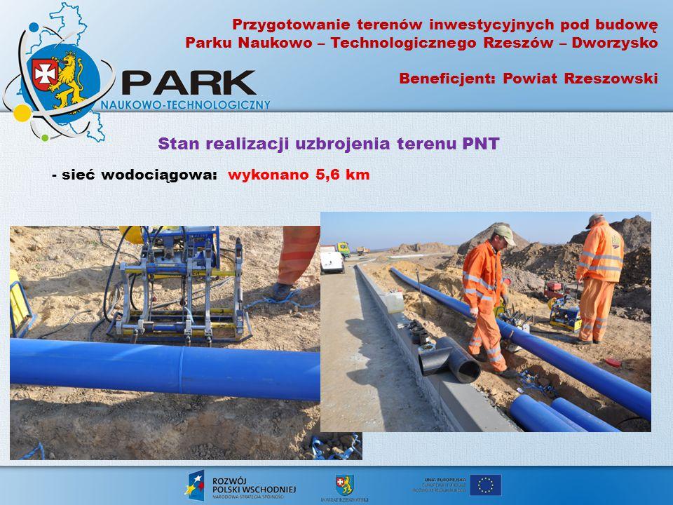 Stan realizacji uzbrojenia terenu PNT