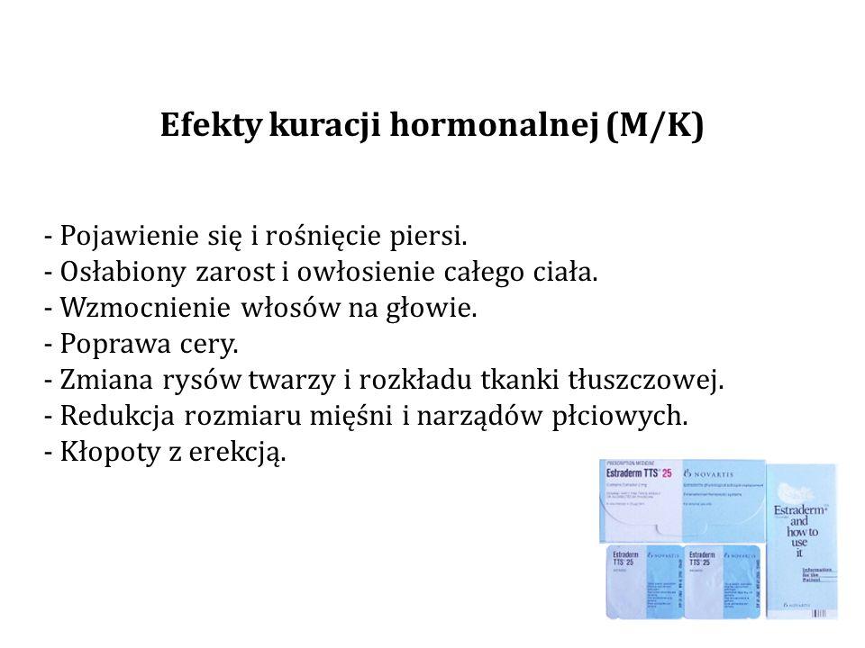 Efekty kuracji hormonalnej (M/K)
