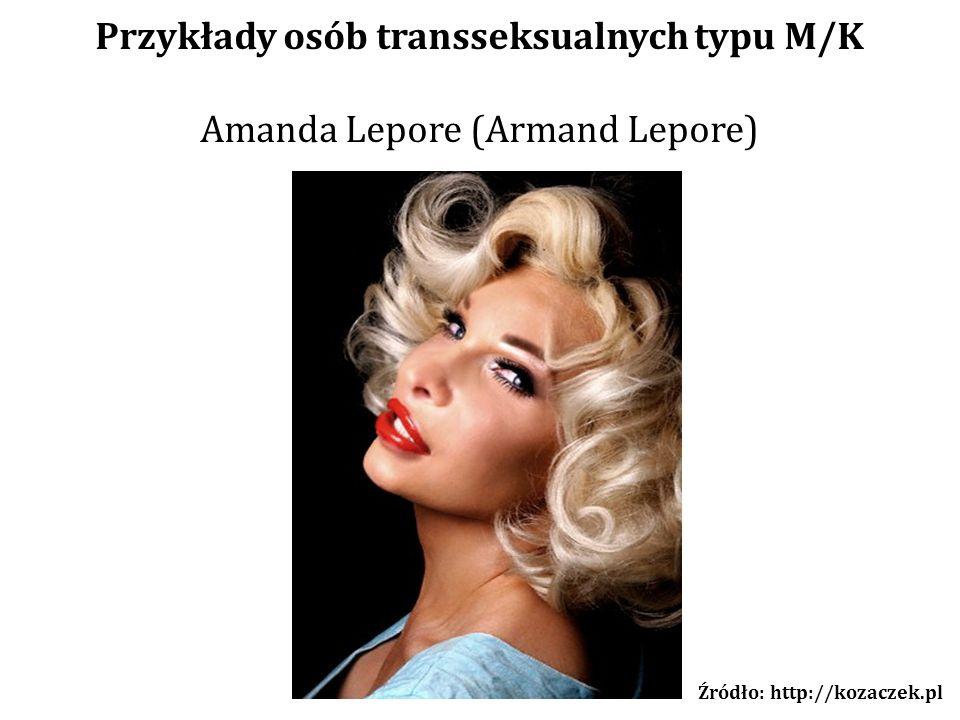 Przykłady osób transseksualnych typu M/K Źródło: http://kozaczek.pl