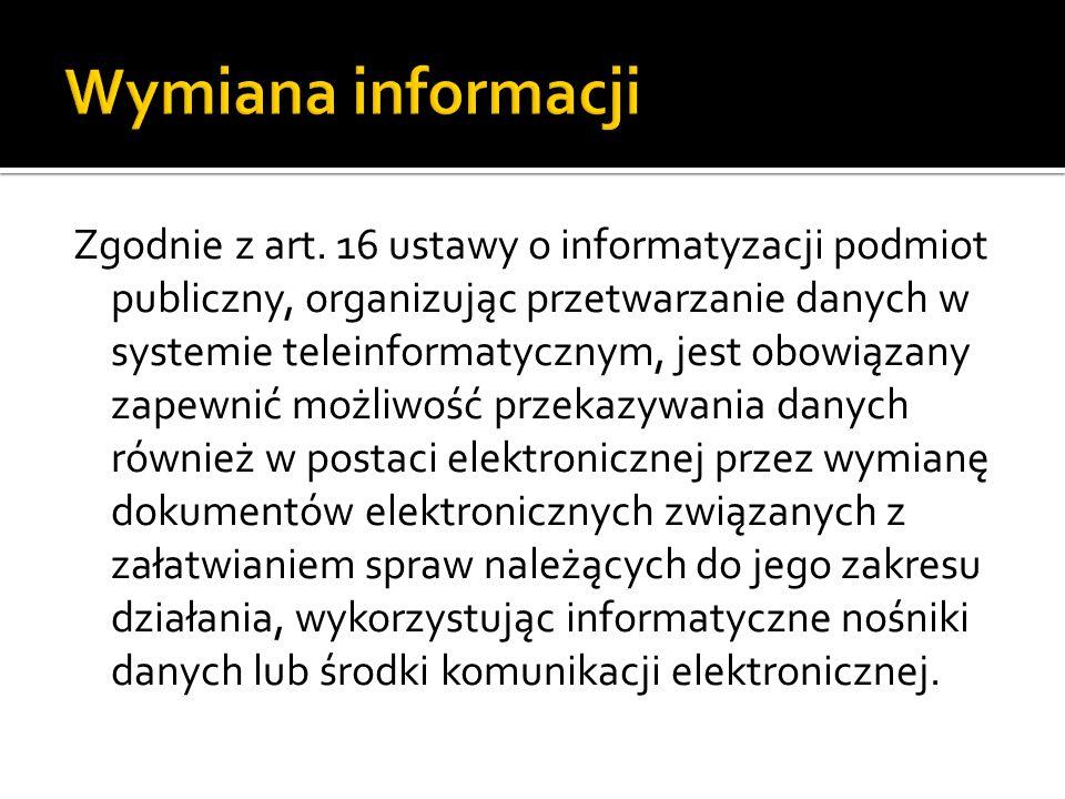 Wymiana informacji
