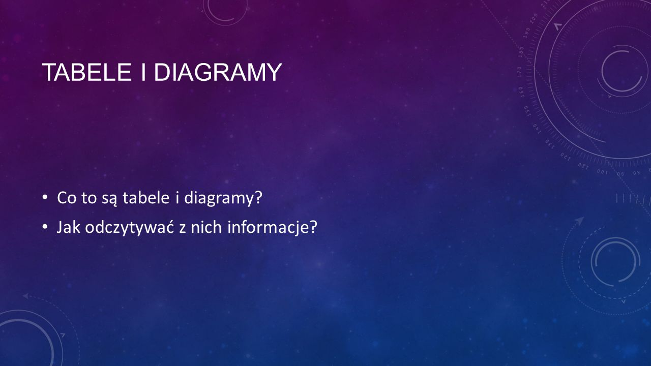 tabele i diagramy Co to są tabele i diagramy