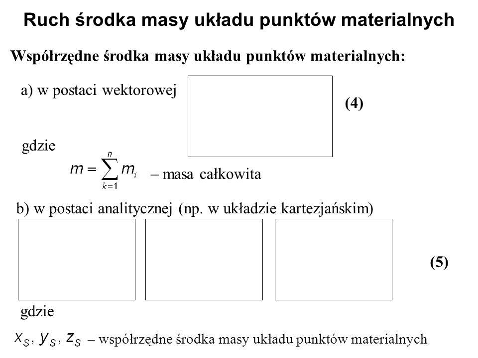 Ruch środka masy układu punktów materialnych