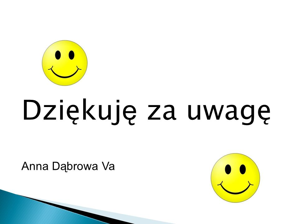 Dziękuję za uwagę Anna Dąbrowa Va