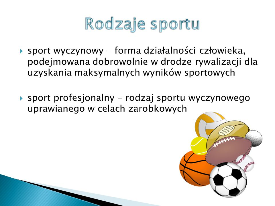 Rodzaje sportu