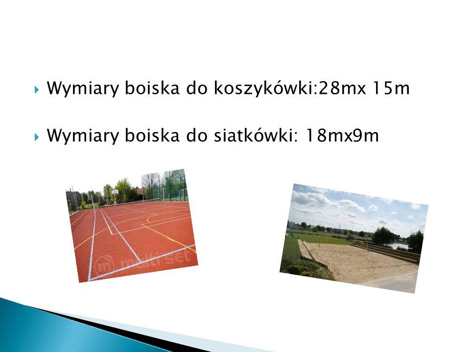 Wymiary boiska do koszykówki:28mx 15m