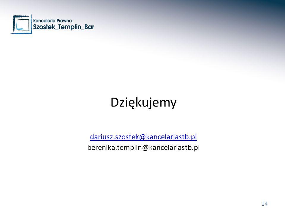 Dziękujemy dariusz.szostek@kancelariastb.pl