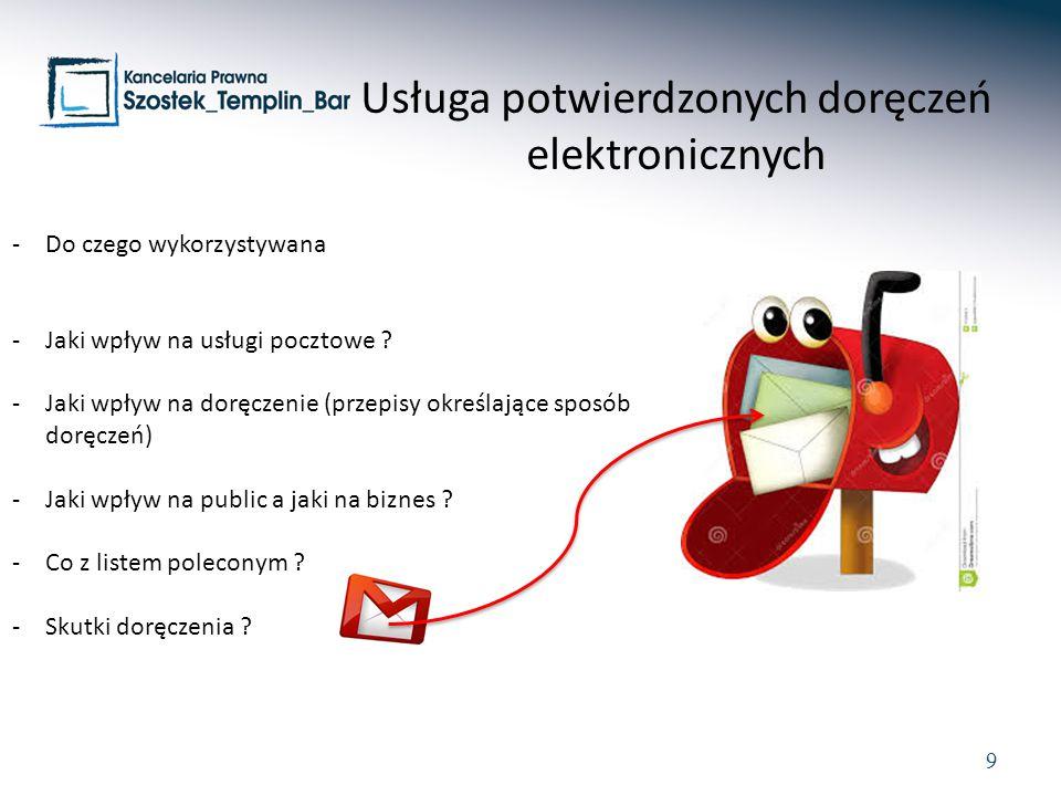 Usługa potwierdzonych doręczeń elektronicznych