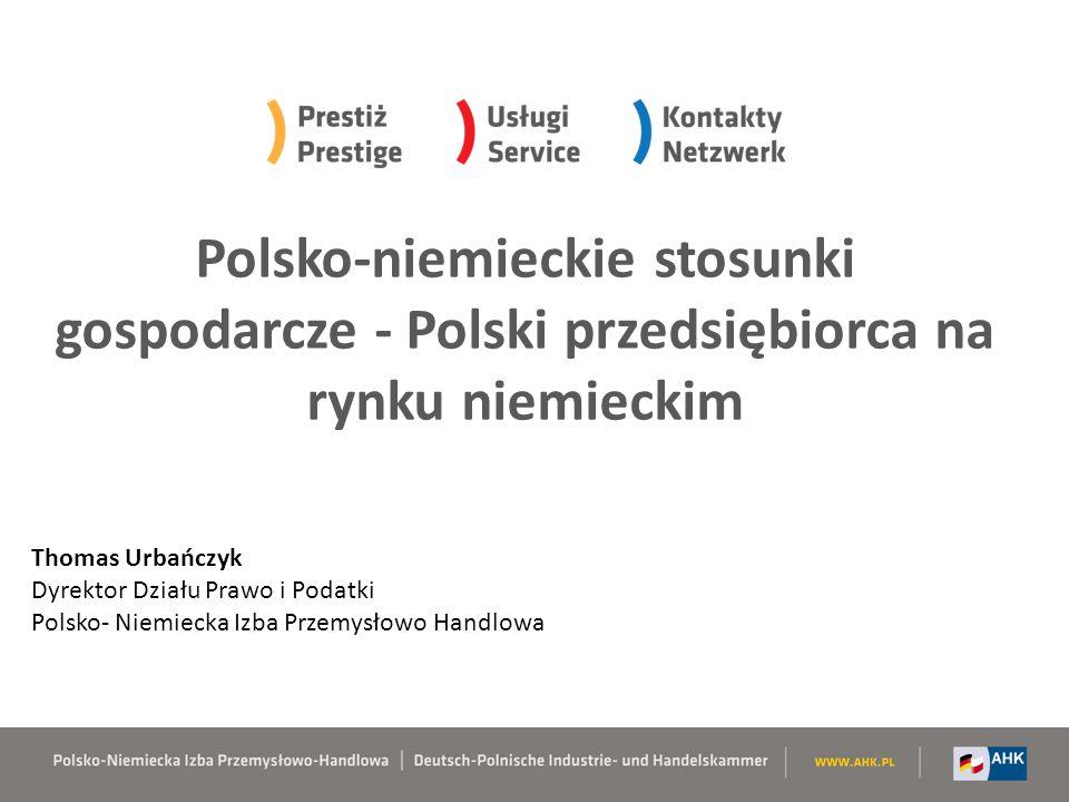 Polsko-niemieckie stosunki gospodarcze - Polski przedsiębiorca na rynku niemieckim