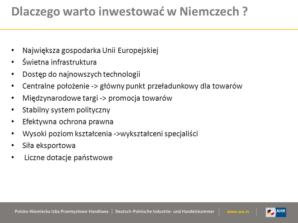 Dlaczego warto inwestować w Niemczech