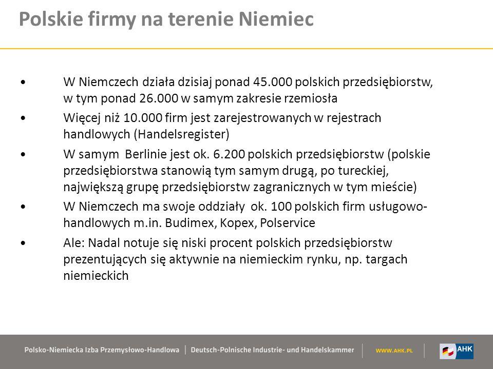Polskie firmy na terenie Niemiec