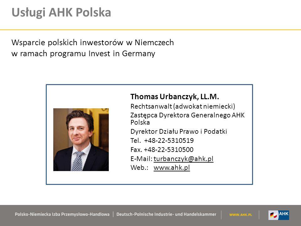 Usługi AHK Polska Wsparcie polskich inwestorów w Niemczech