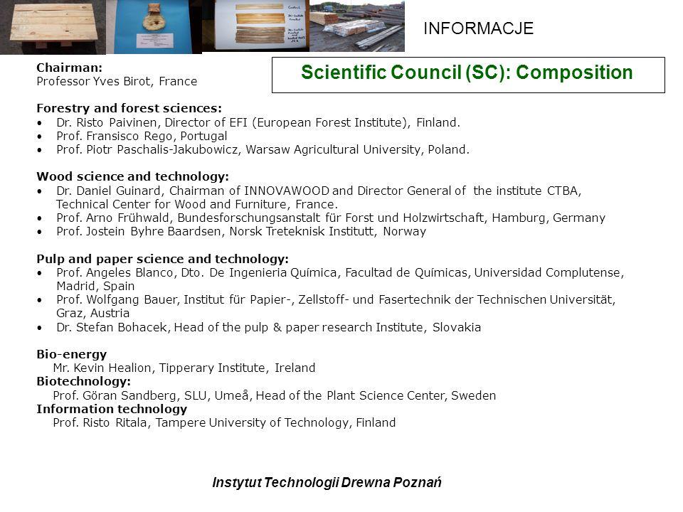 Scientific Council (SC): Composition