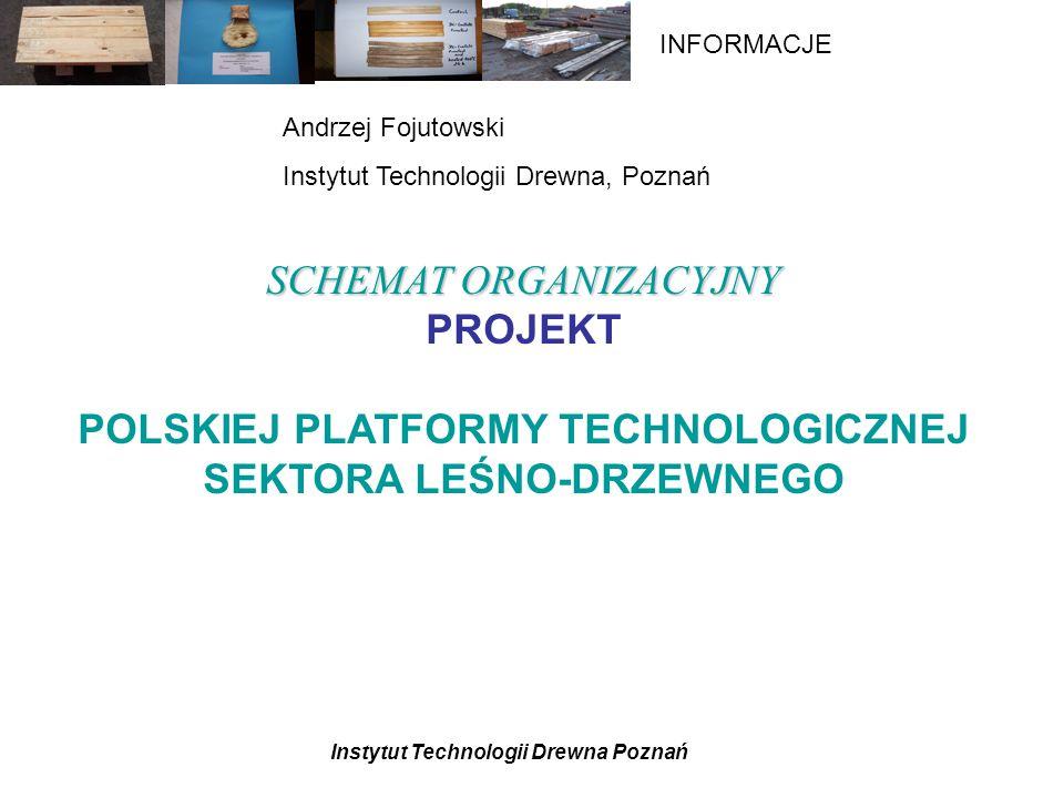 POLSKIEJ PLATFORMY TECHNOLOGICZNEJ SEKTORA LEŚNO-DRZEWNEGO