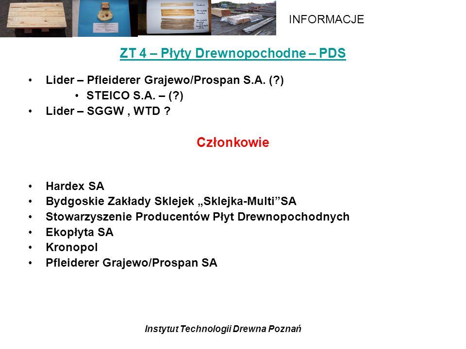 ZT 4 – Płyty Drewnopochodne – PDS