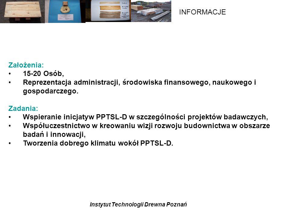 Założenia: 15-20 Osób, Reprezentacja administracji, środowiska finansowego, naukowego i gospodarczego.