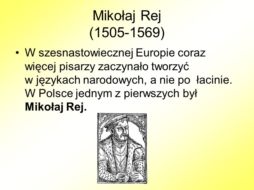 Mikołaj Rej (1505-1569)