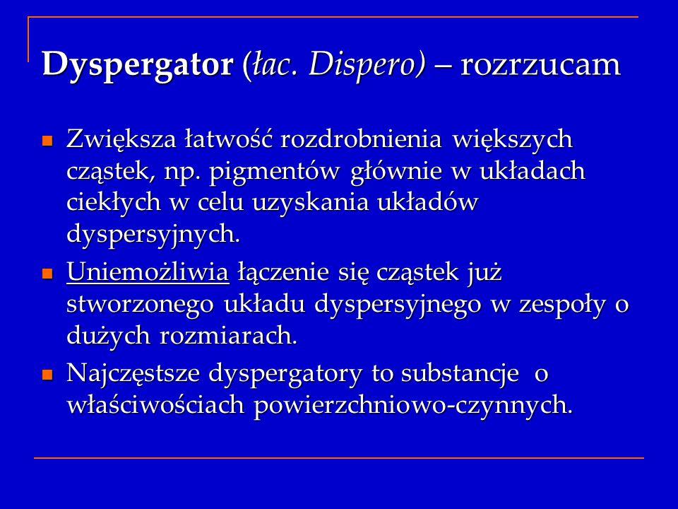 Dyspergator (łac. Dispero) – rozrzucam