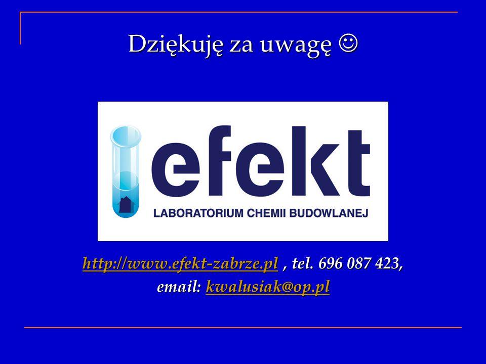 http://www.efekt-zabrze.pl , tel. 696 087 423,