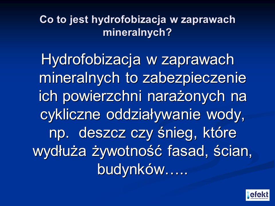 Co to jest hydrofobizacja w zaprawach mineralnych