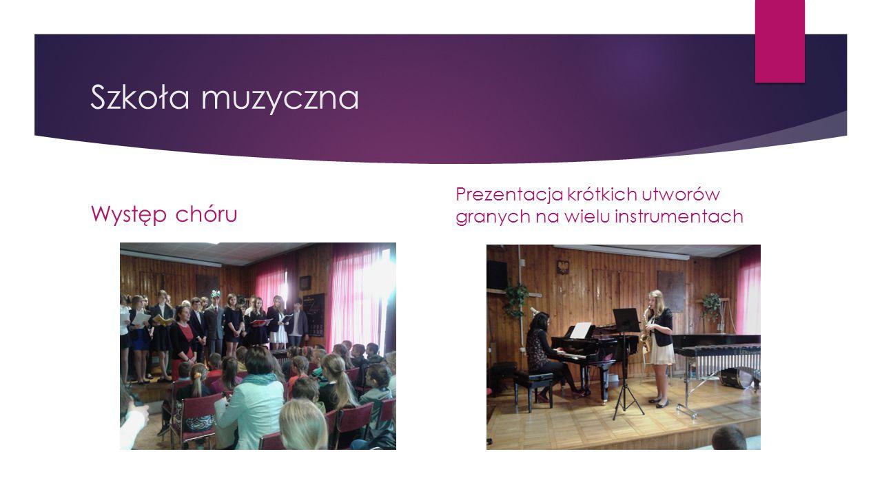 Szkoła muzyczna Występ chóru