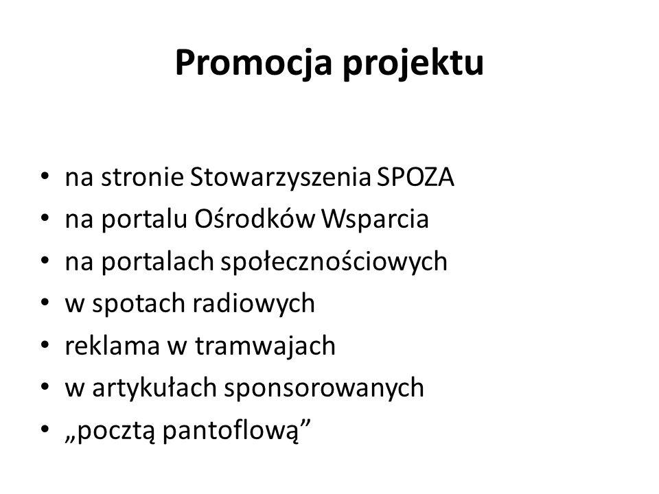 Promocja projektu na stronie Stowarzyszenia SPOZA