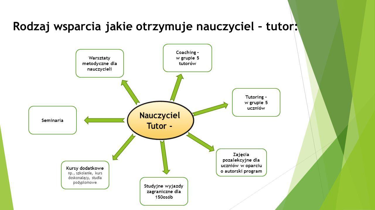 Rodzaj wsparcia jakie otrzymuje nauczyciel – tutor: