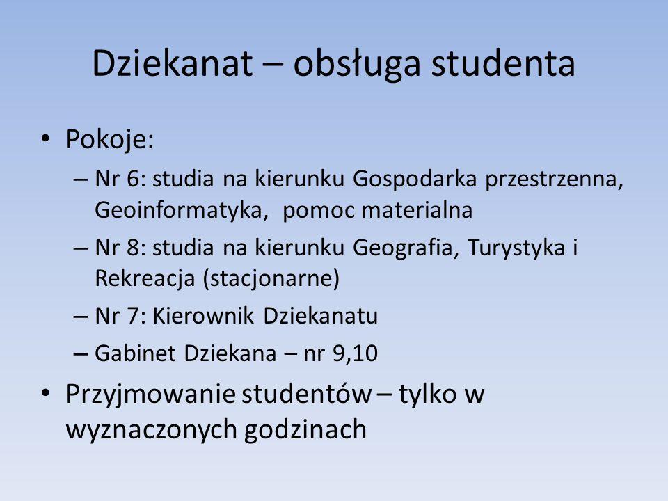 Dziekanat – obsługa studenta