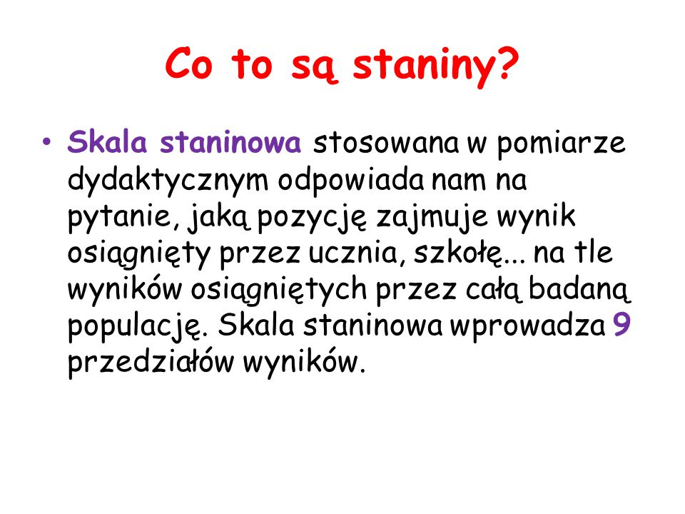 Co to są staniny