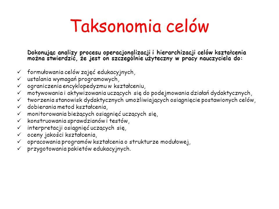 Taksonomia celów
