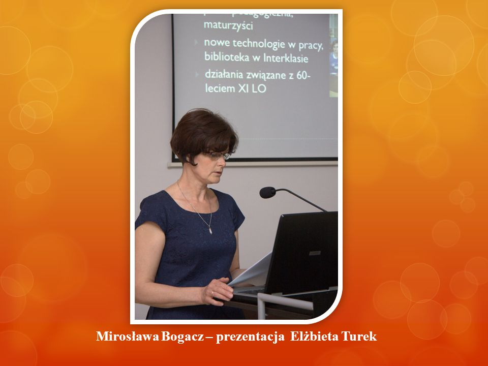 Mirosława Bogacz – prezentacja Elżbieta Turek