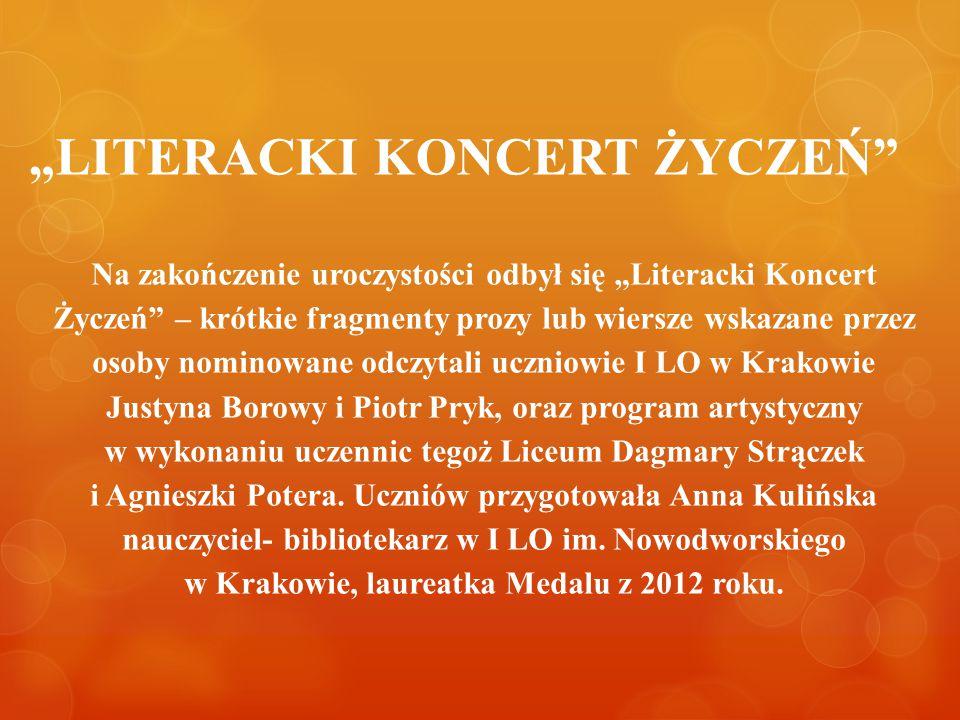 """""""LITERACKI KONCERT ŻYCZEŃ"""