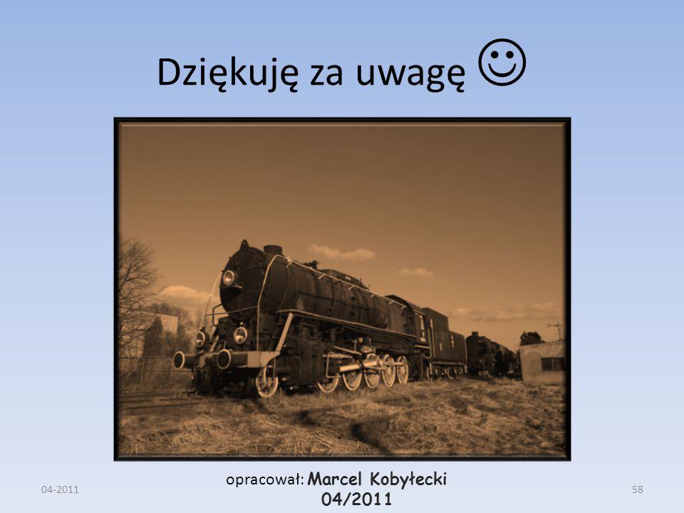 Dziękuję za uwagę  opracował: Marcel Kobyłecki 04/2011 04-2011